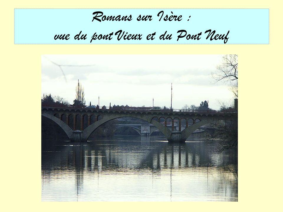 Romans sur Isère : vue du pont Vieux et du Pont Neuf