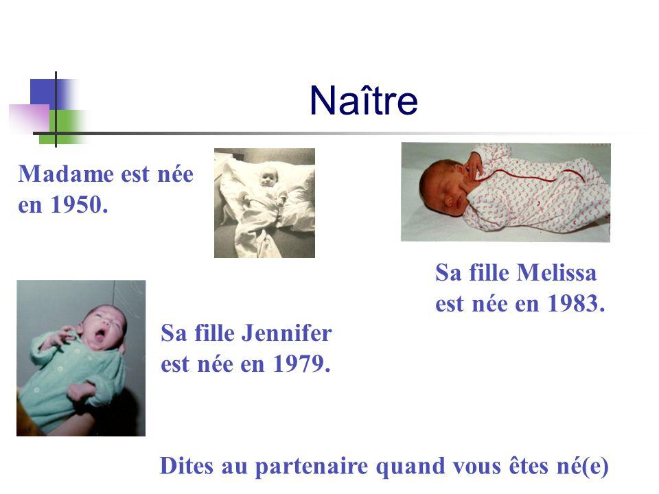 Naître Madame est née en 1950. Sa fille Melissa est née en 1983.