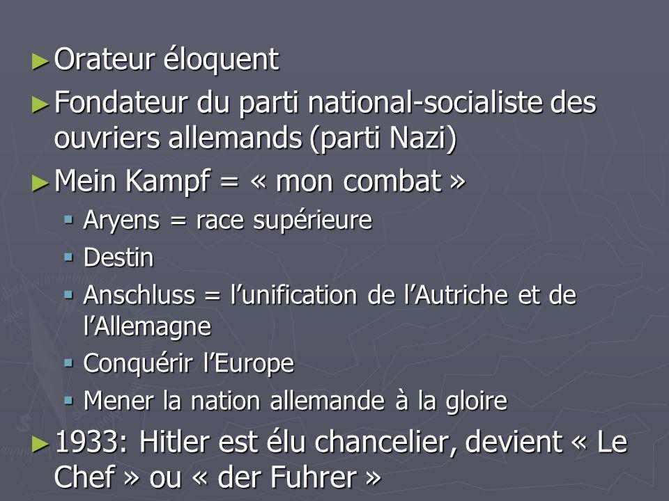 Mein Kampf = « mon combat »