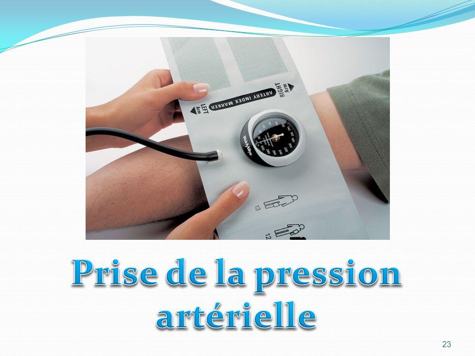 Prise de la pression artérielle
