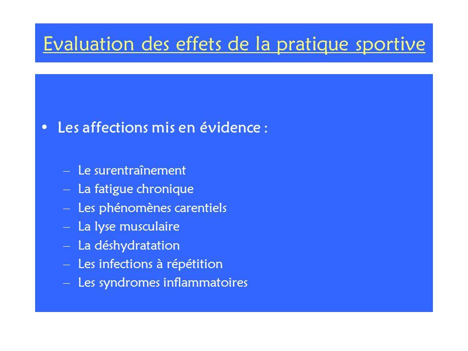 Evaluation des effets de la pratique sportive