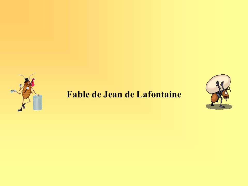 Fable de Jean de Lafontaine