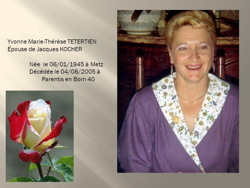 Yvonne Marie-Thérèse TETERTIEN