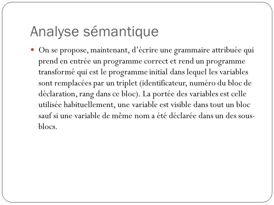 Analyse sémantique