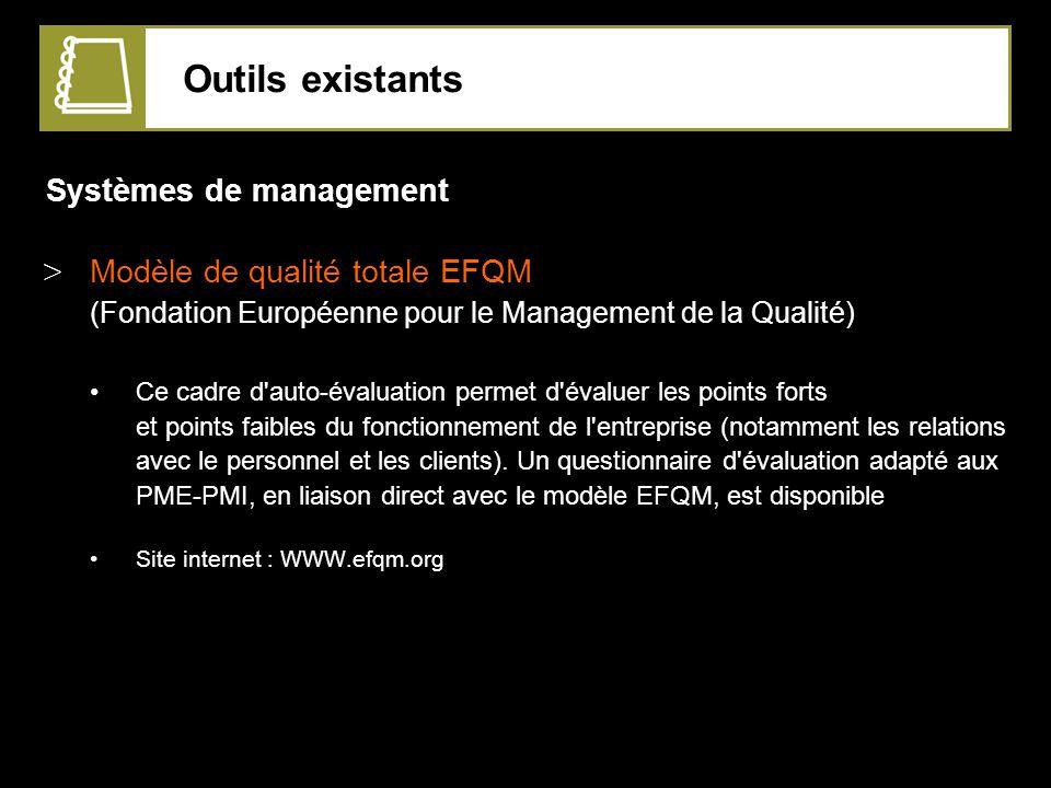 Outils existants Systèmes de management