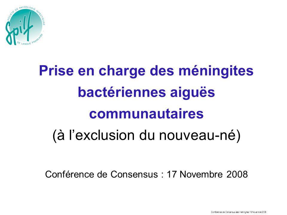 Conférence de Consensus : 17 Novembre 2008