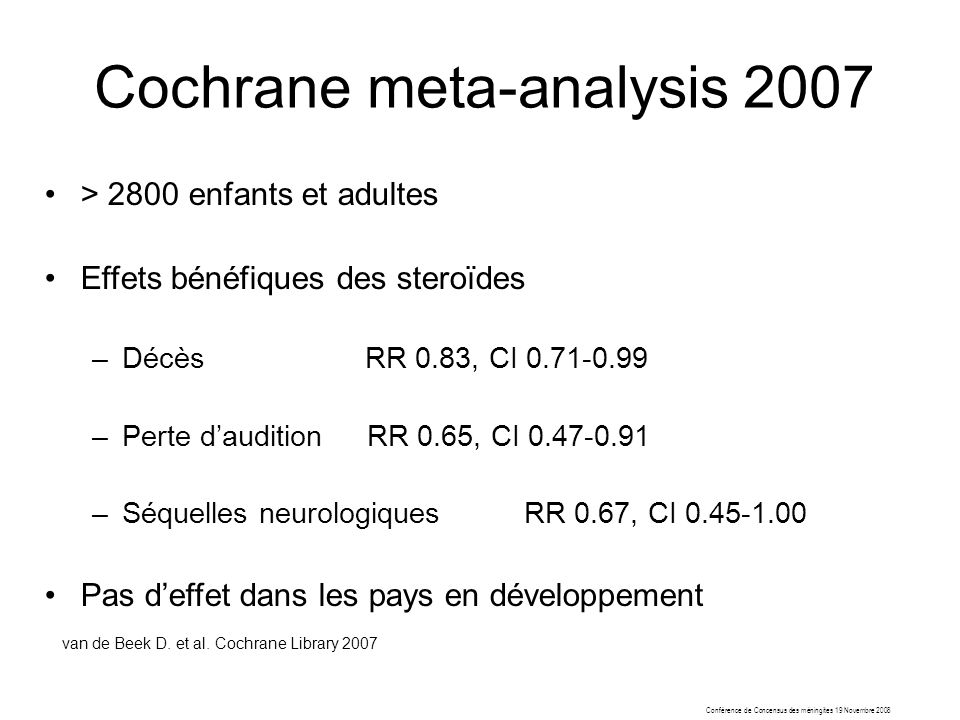 Cochrane meta-analysis 2007