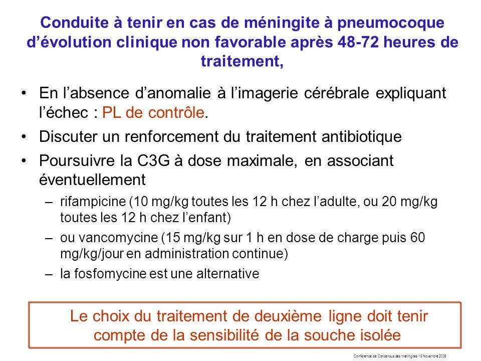Discuter un renforcement du traitement antibiotique