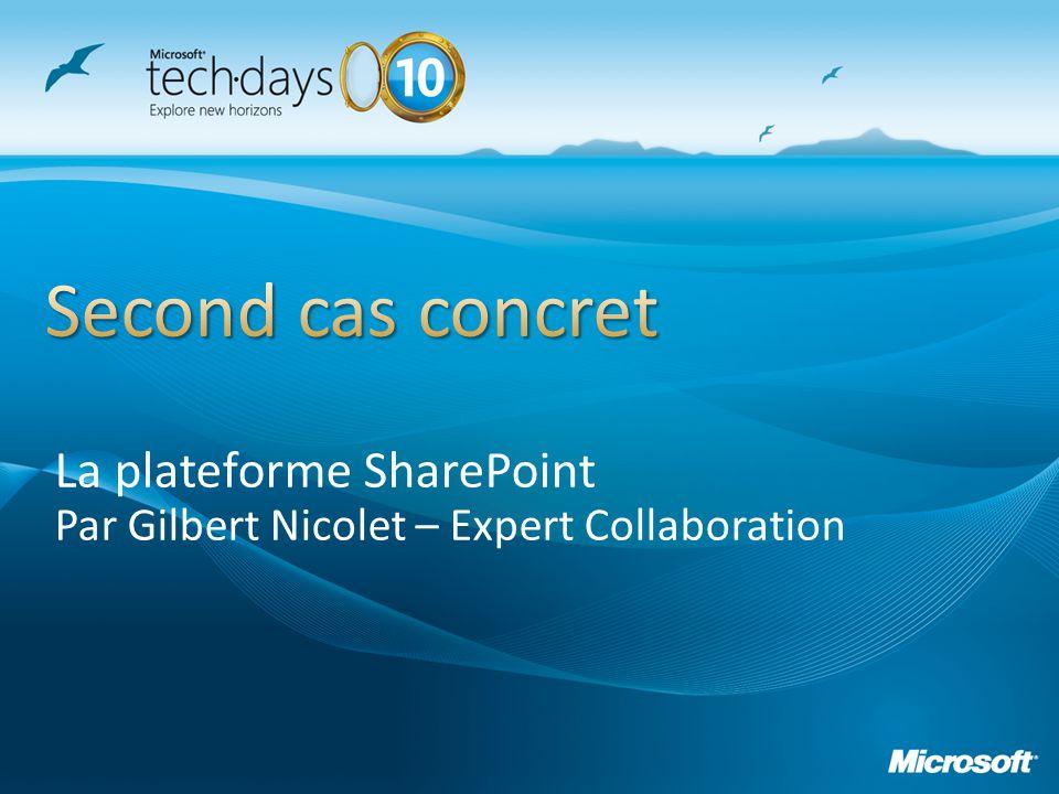 La plateforme SharePoint Par Gilbert Nicolet – Expert Collaboration