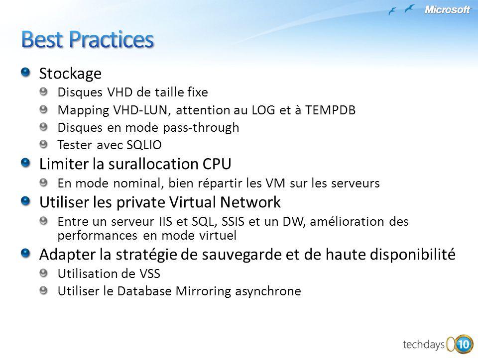 Best Practices Stockage Limiter la surallocation CPU
