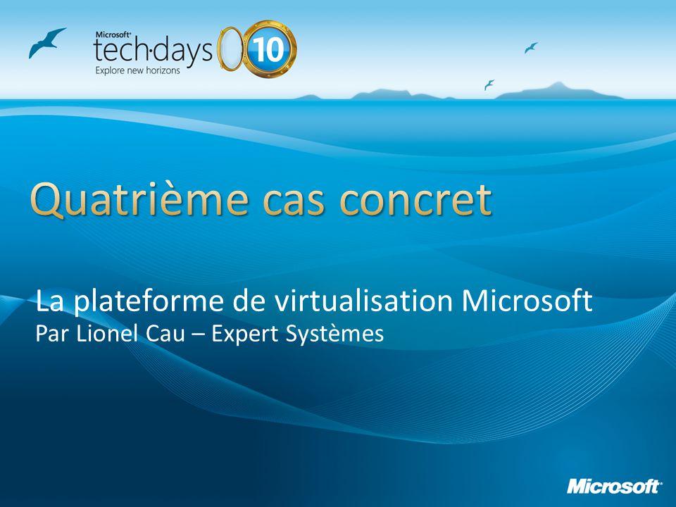 Quatrième cas concret La plateforme de virtualisation Microsoft