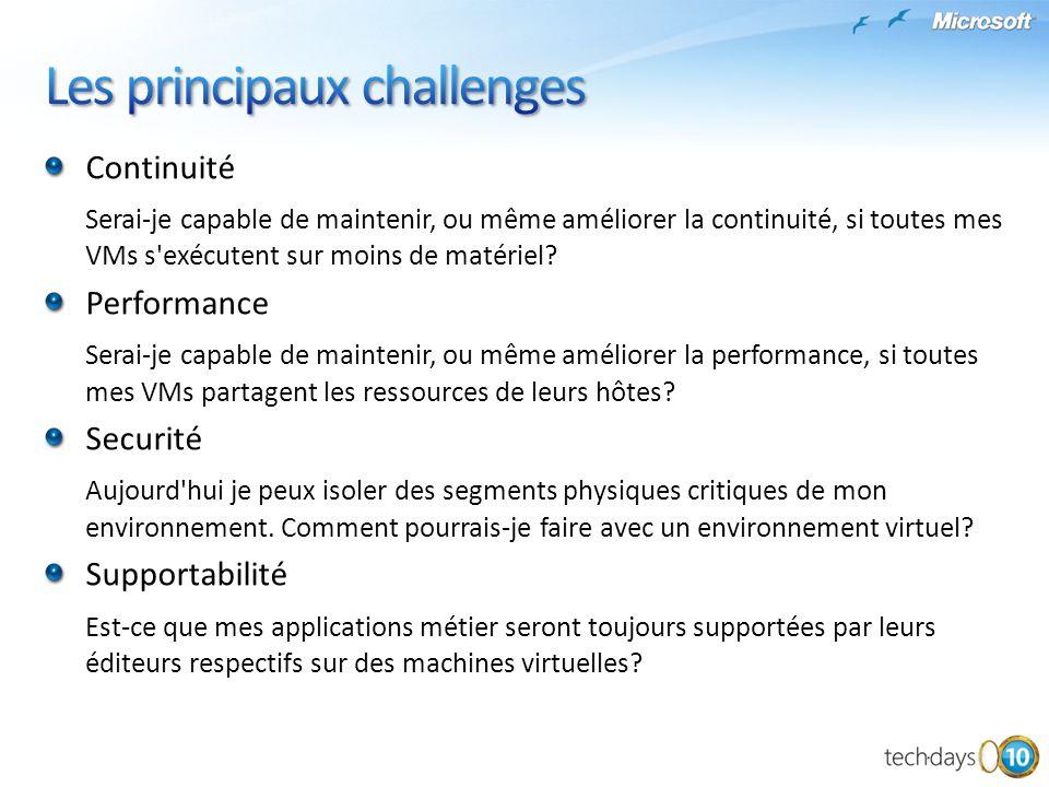 Les principaux challenges