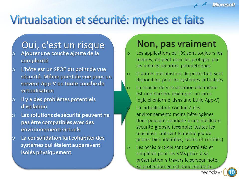 Virtualsation et sécurité: mythes et faits