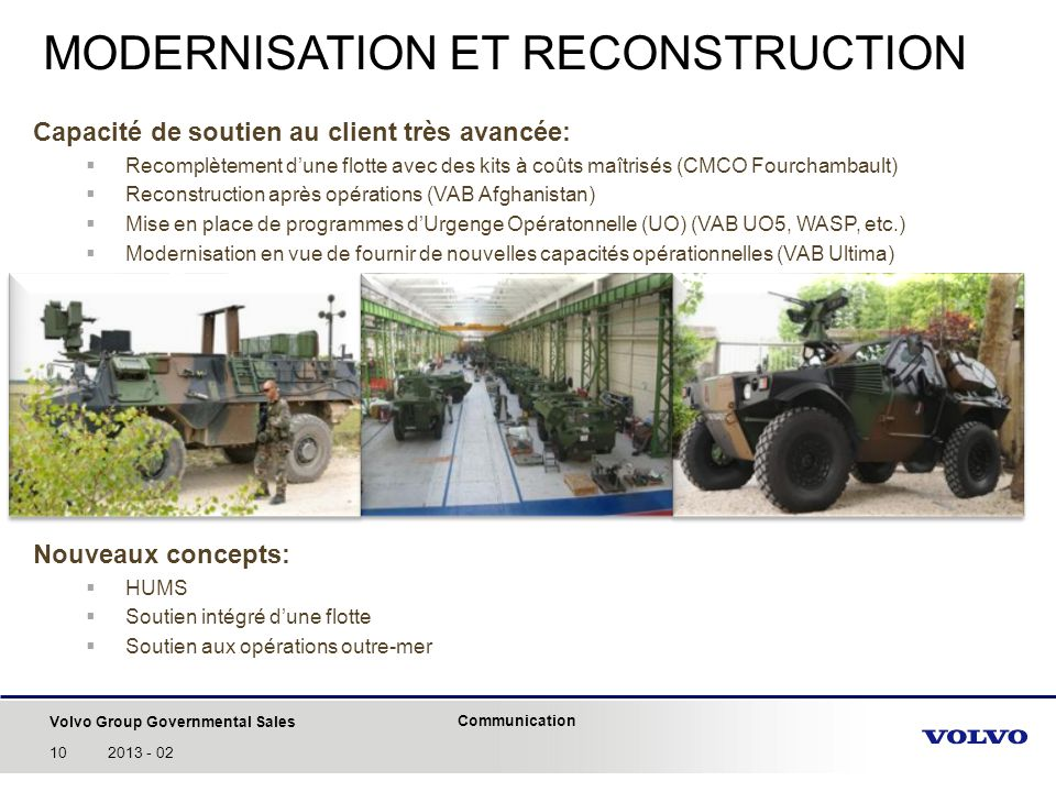 MODERNISATION ET RECONSTRUCTION