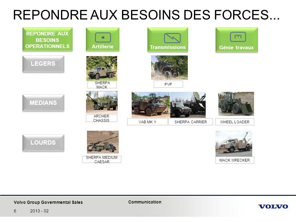 REPONDRE AUX BESOINS DES FORCES...