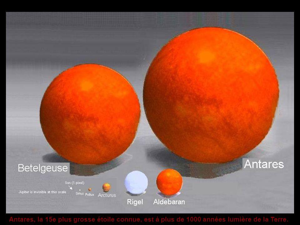Antares, la 15e plus grosse étoile connue, est à plus de 1000 années lumière de la Terre.