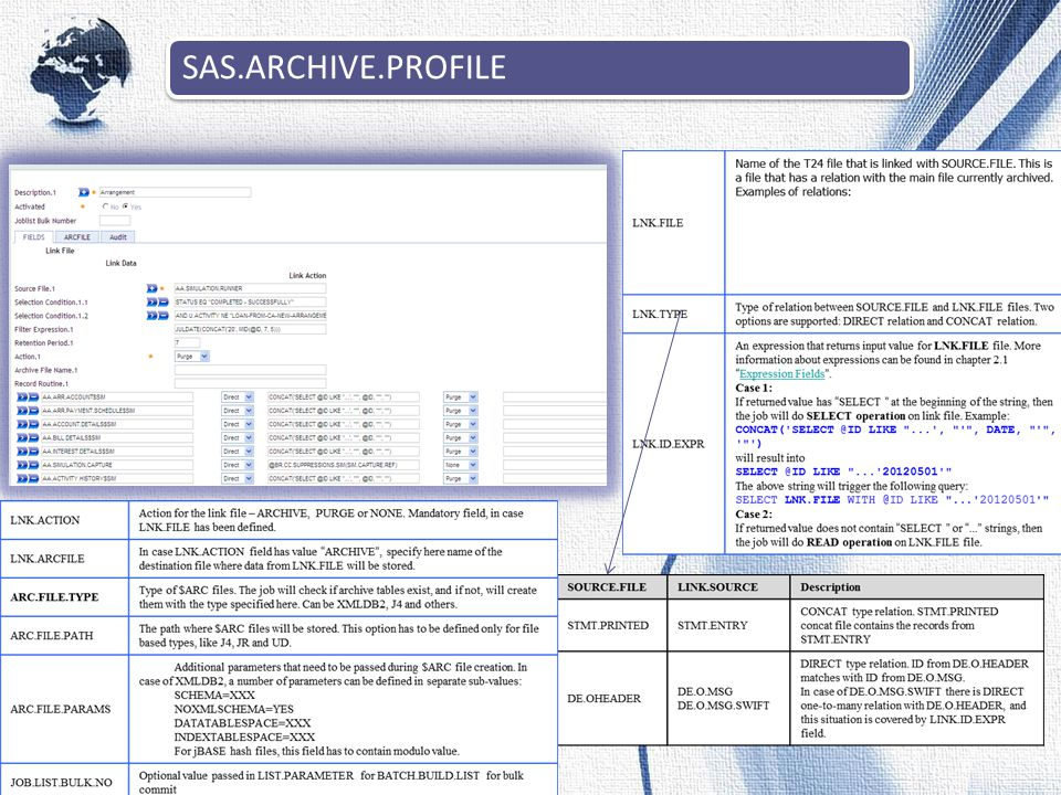 SAS.ARCHIVE.PROFILE