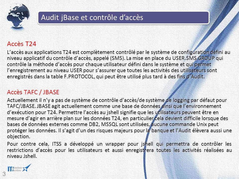 Audit jBase et contrôle d'accès