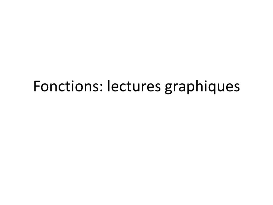 Fonctions: lectures graphiques
