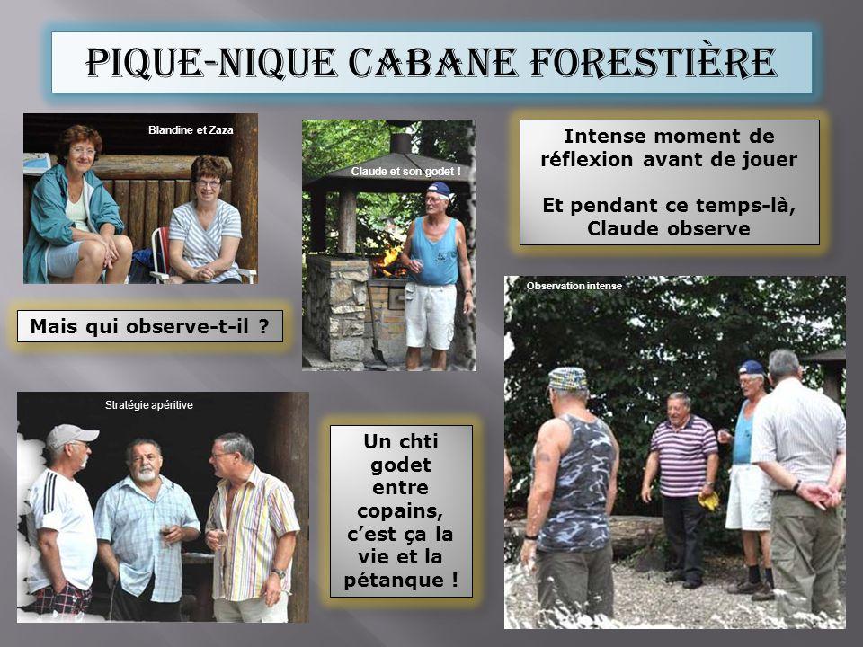 Pique-nique cabane forestière