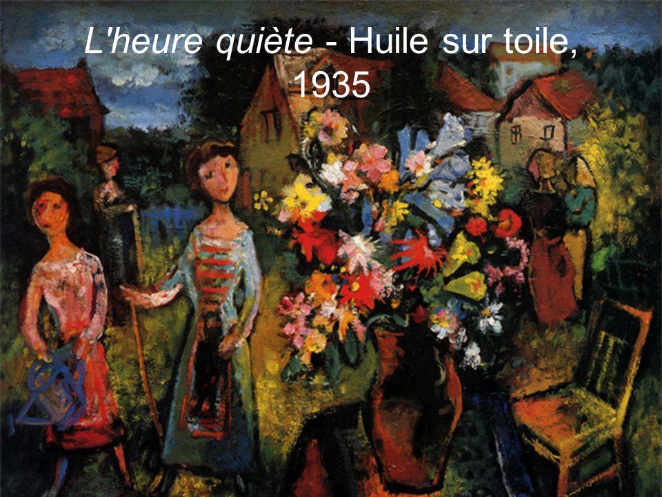 L heure quiète - Huile sur toile, 1935