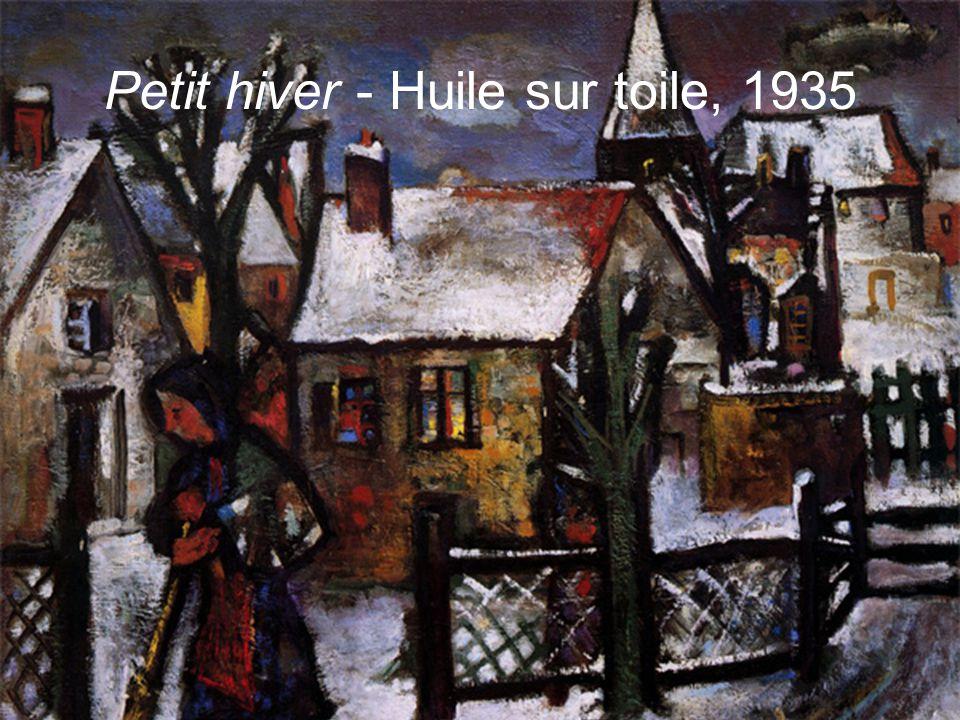Petit hiver - Huile sur toile, 1935