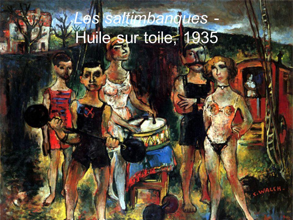 Les saltimbanques - Huile sur toile, 1935