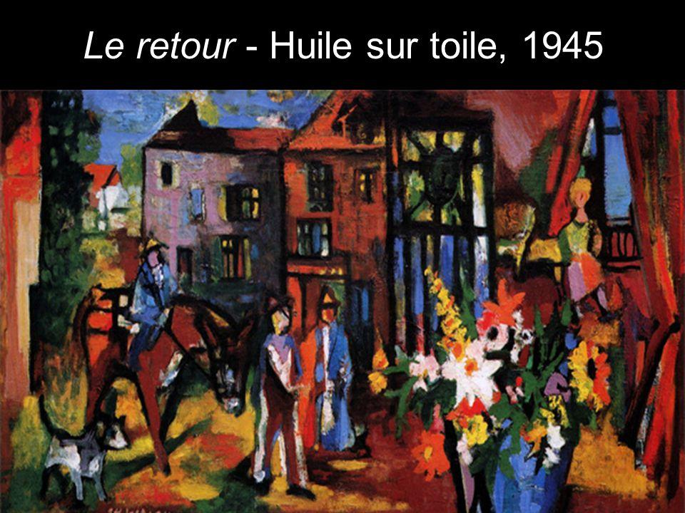 Le retour - Huile sur toile, 1945