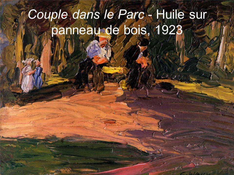 Couple dans le Parc - Huile sur panneau de bois, 1923