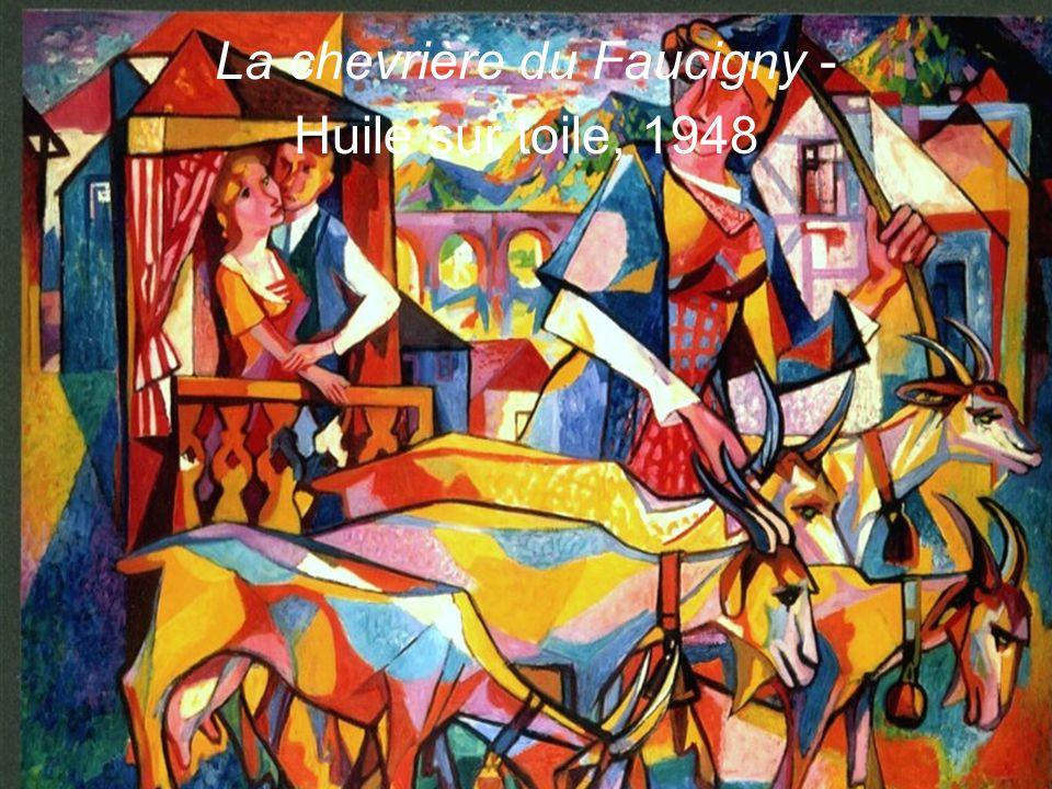 La chevrière du Faucigny - Huile sur toile, 1948