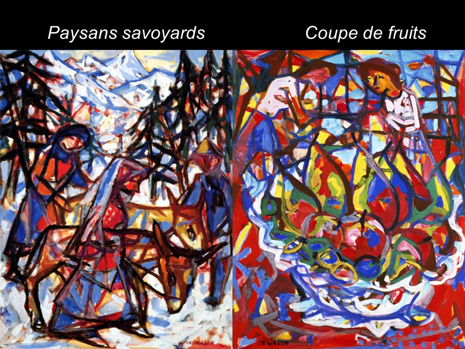 Paysans savoyards Coupe de fruits