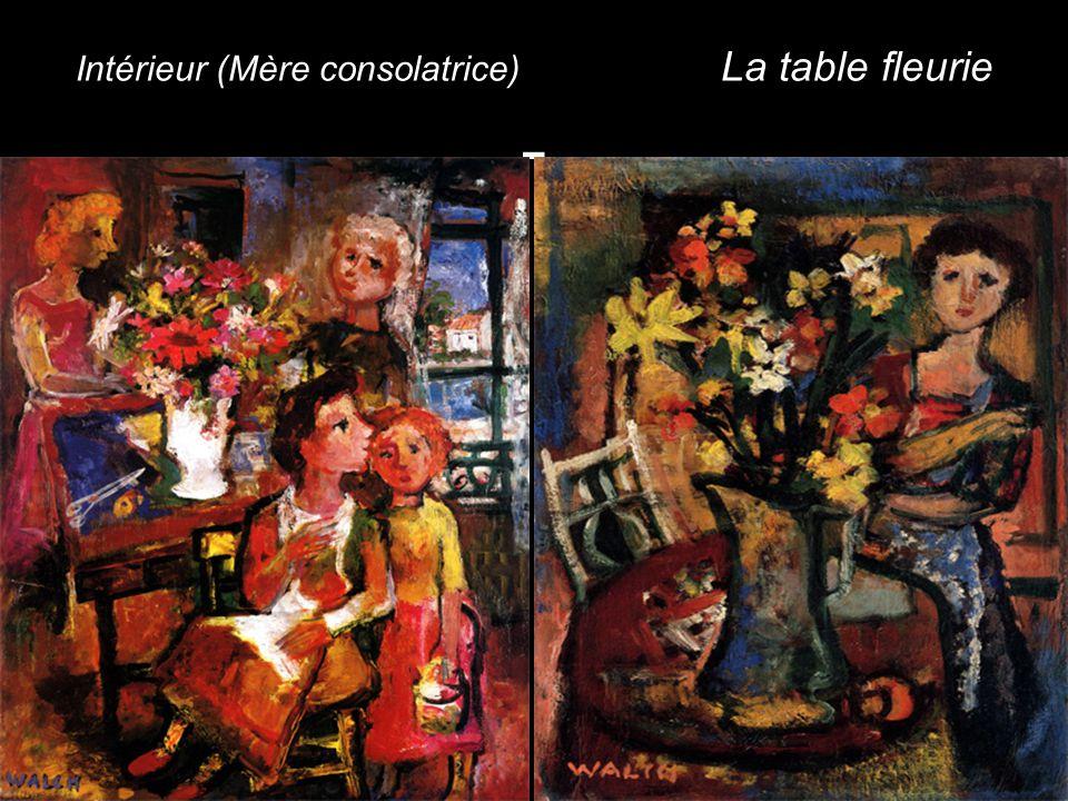Intérieur (Mère consolatrice) La table fleurie -