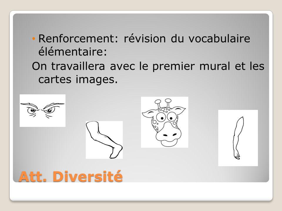 Att. Diversité Renforcement: révision du vocabulaire élémentaire: