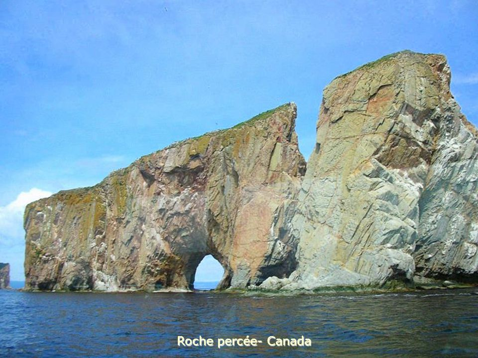 Roche percée- Canada
