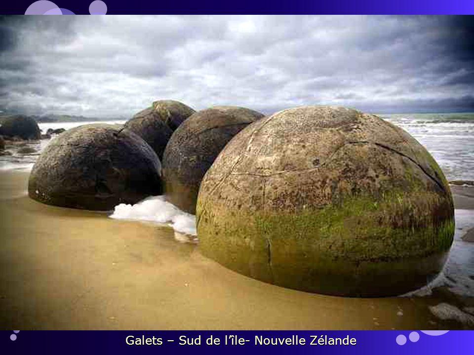 Galets – Sud de l'île- Nouvelle Zélande