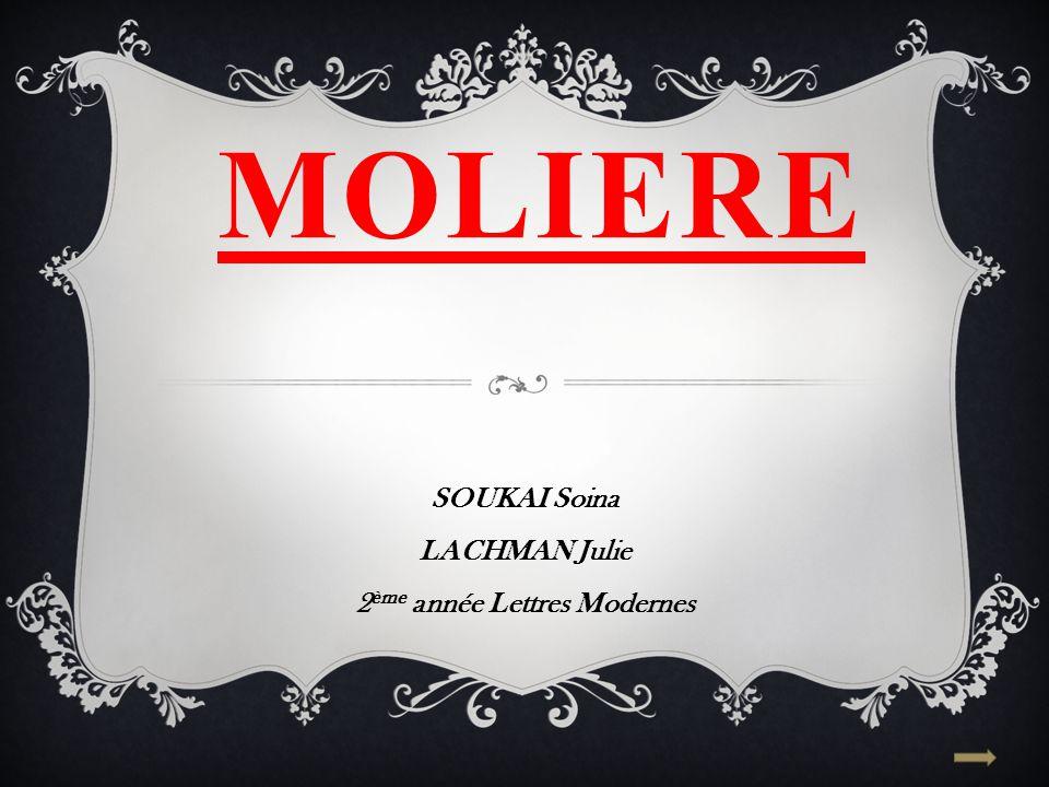 SOUKAI Soina LACHMAN Julie 2ème année Lettres Modernes