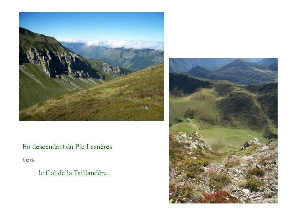 En descendant du Pic Lasnères