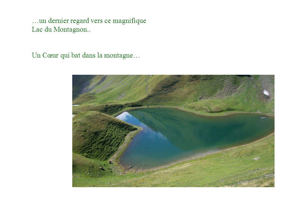…un dernier regard vers ce magnifique Lac du Montagnon..