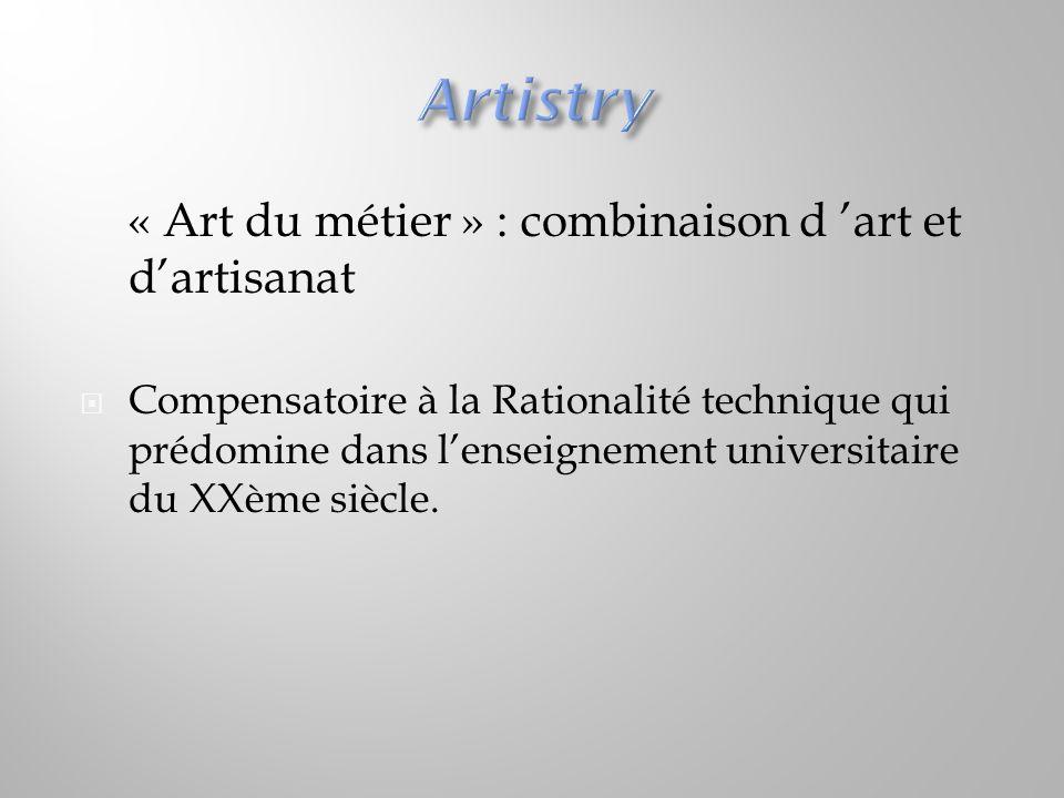 Artistry « Art du métier » : combinaison d 'art et d'artisanat