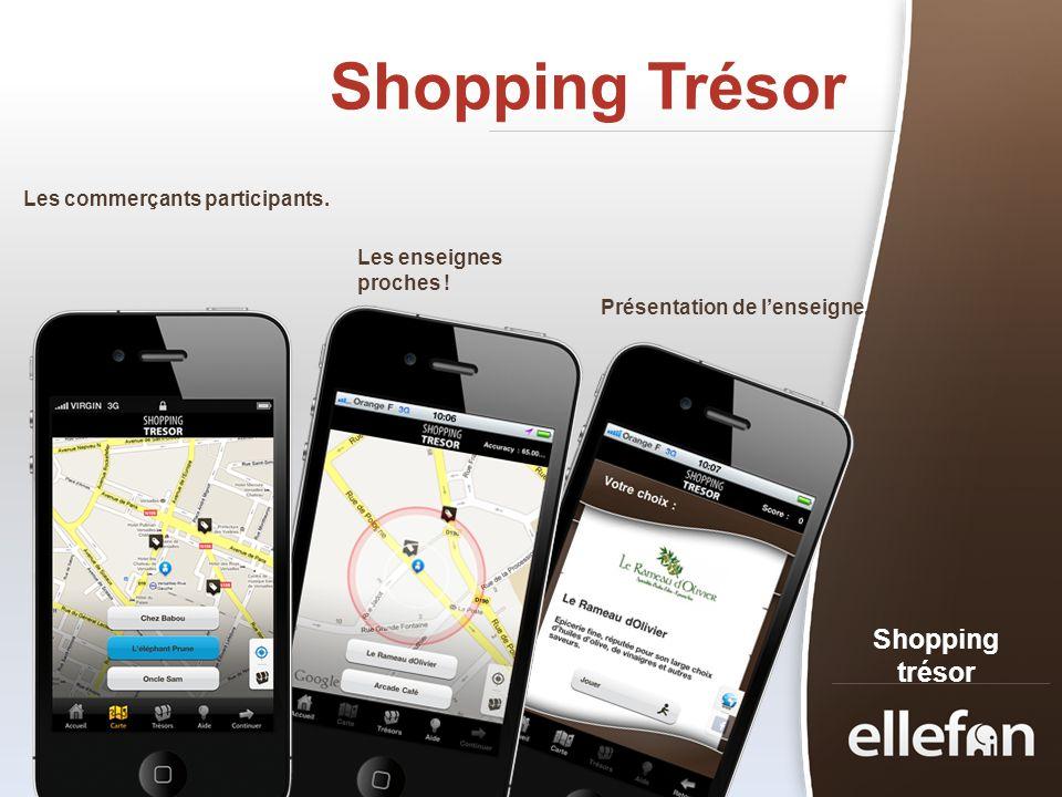 Shopping Trésor Shopping trésor Les commerçants participants.