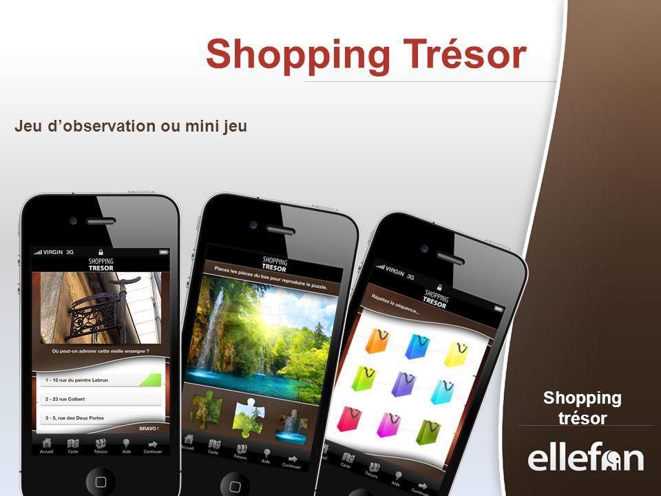 Shopping Trésor Jeu d'observation ou mini jeu Shopping trésor