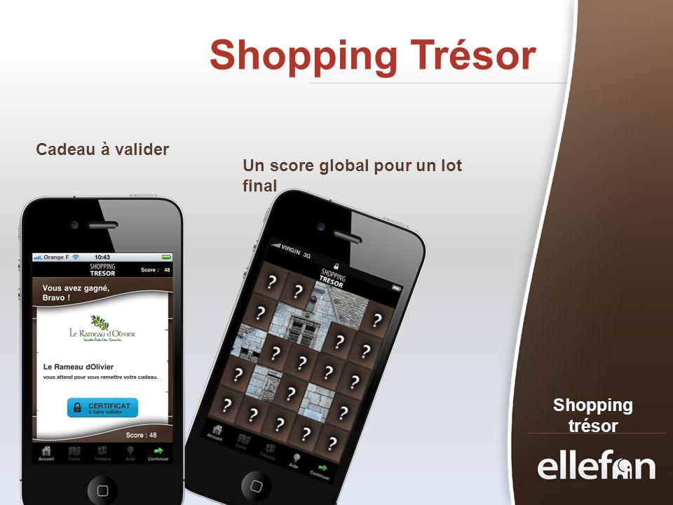 Shopping Trésor Shopping trésor Cadeau à valider