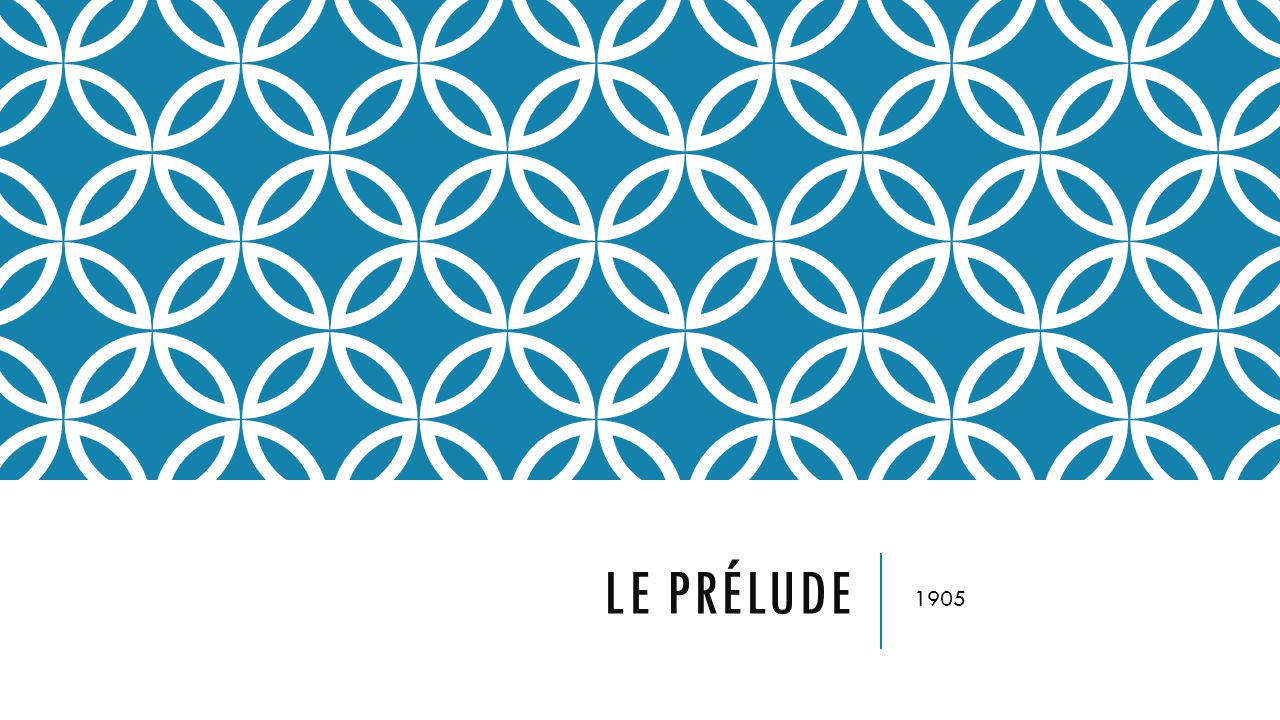 Le prélude 1905