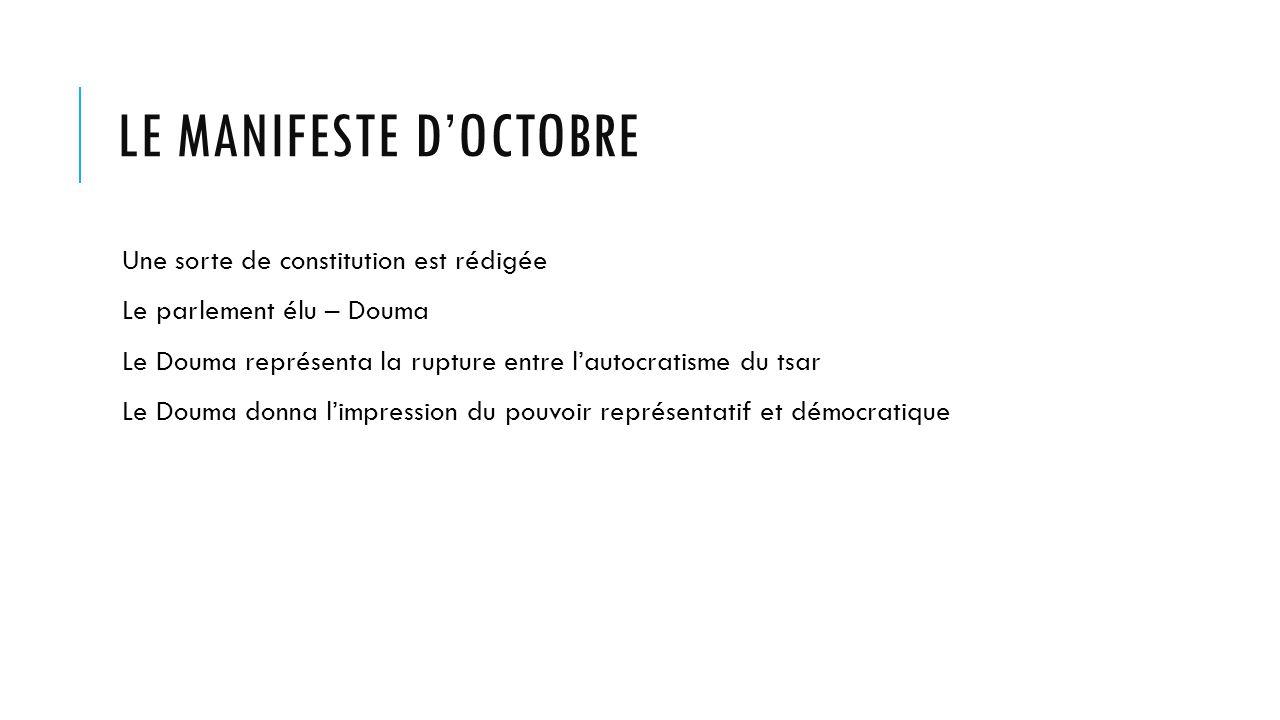 Le manifeste d'Octobre