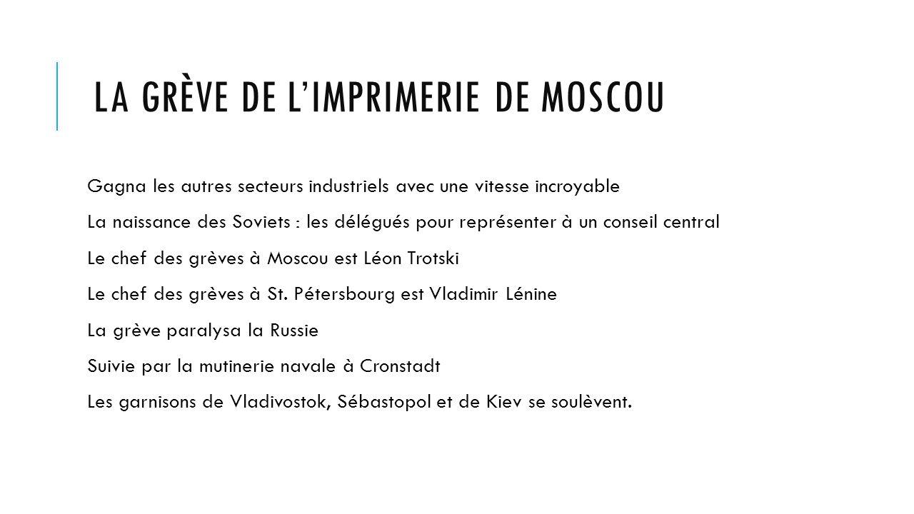 La grève de l'imprimerie de Moscou
