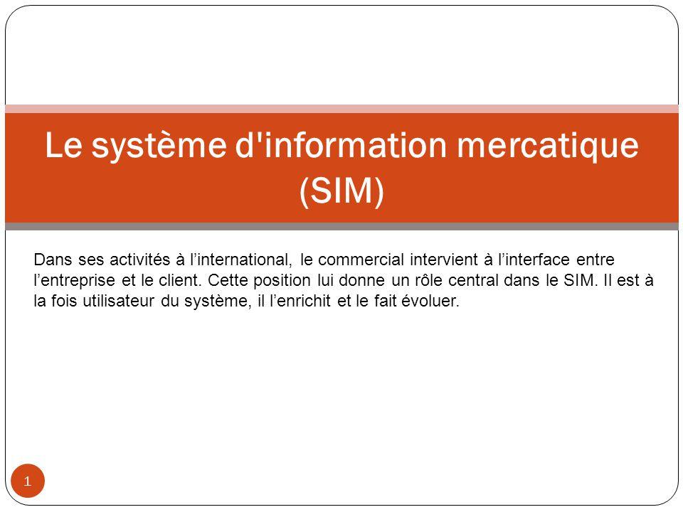 Le système d information mercatique (SIM)
