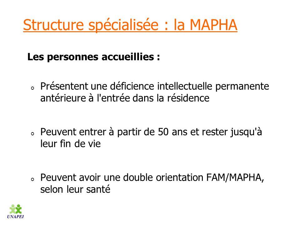 Structure spécialisée : la MAPHA