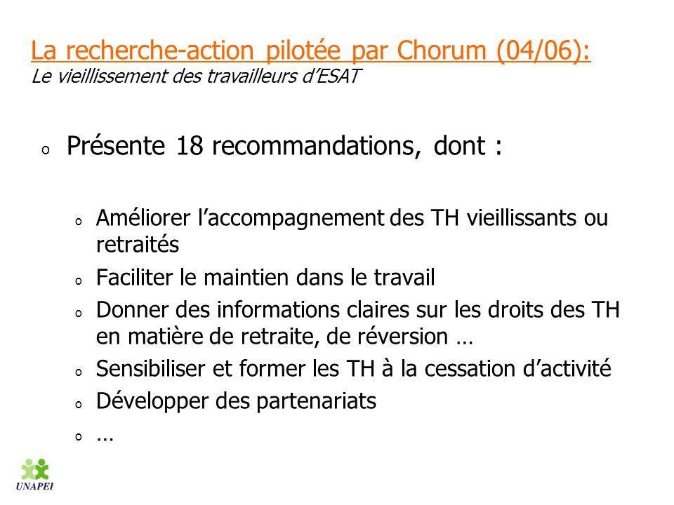 Présente 18 recommandations, dont :