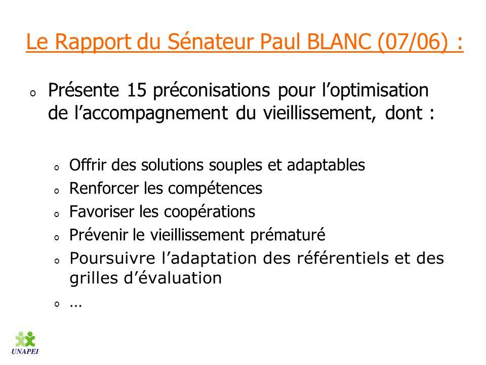Le Rapport du Sénateur Paul BLANC (07/06) :