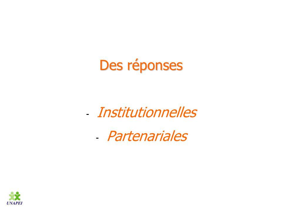 Des réponses Institutionnelles Partenariales